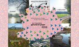 Een gezond en groen 2016