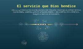 El servicio que Dios bendice