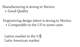 Mexican Competitiveness