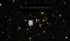 Au(x) Commencement(s) -Cosmogonies-