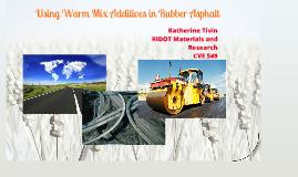 Warm Mix in Asphalt Binder