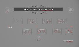 Copy of HISTORIA DE LA PSICOLOGÍA