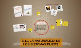 3.1.1 LA NATURALEZA DE LOS SISTEMAS DUROS.