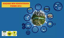 MAGANG BEM KEMENTERIAN PSDMO 2013
