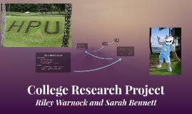 HPU College Research Project