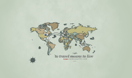 to travel means to live