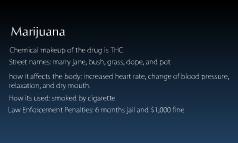 Marijuana, hashish, and cannabis