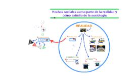 Hechos sociales como parte de la realidad y como estudio de