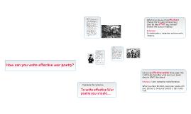 Copy of War Poetry
