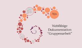 "Webfähige Dokumentation ""Gruppenarbeit"""