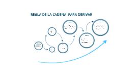 REGLA DE CADENA ''Derivadas''