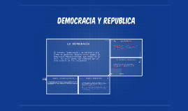 DEMOCRACIA Y REPUBLICA