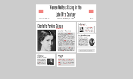 Prominent Women Writers During the Late 19th Century