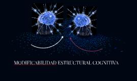 MODIFICABILIDAD ESTRUCTURAL COGNITIVA