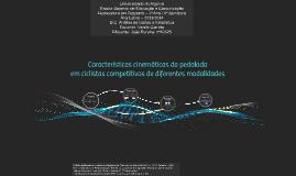 Características cinemáticas da pedalada