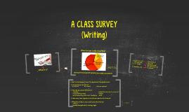WRITING: A CLASS SURVEY (I05)