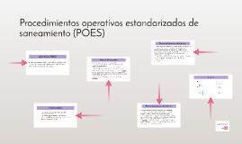 Procedimientos operativos estandarizados de saneamiento (POE