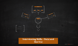 Interviewing Skills - Do(s) and Don't(s)