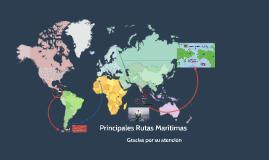 Rutas Maritimas Canales y Estrechos