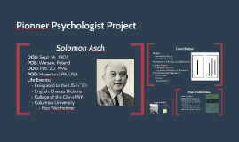 Pioneer Psychologist Project