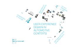 User Experience Design in Automotive Contexts