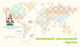 Documentación  para exportación  Argentina