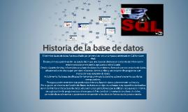 Historia de la base de datos