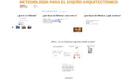 METODOLOGIA PARA EL DISEÑO ARQUITECTÓNICO