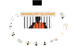 Kriminalitet og straff