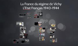 La France du régime de Vichy