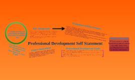 Copy of Professional Development Self Statement