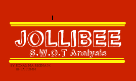 jollibee analysis Market leadership in asian countries where the presence of jollibee is  2 ernesto arellano, jr is  took offered solid foundation in global analysis of.