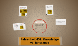 What are some ways Bradbury uses knowledge vs. ignorance in the book Fahrenheit 451??