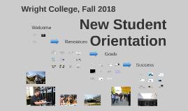 New Student Orientation, Fall 2018, 12-Week Classes