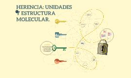 Copy of HERENCIA: UNIDADES Y ESTRUCTURA MOLECULAR.
