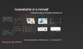 Europeanization at a crossroad?