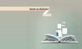Språk og dialekter