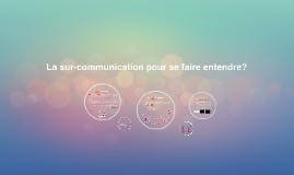 La sur-communication pour se faire entendre