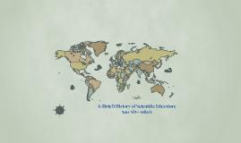 A (Brief) History of Scientific Literature