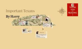 Important Texans