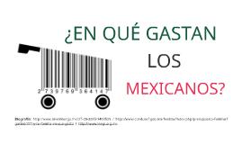¿EN QUÉ GASTAN LOS MEXICANOS?