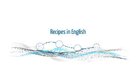 Recipes in English