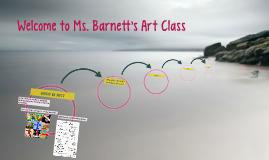 Welcome to Ms. Barnett's Art Class