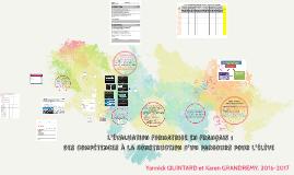 L'évaluation formatrice en français : des compétences à la construction d'un parcours pour l'élève