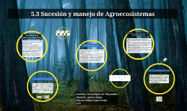 Sucesión y manejo de Agroecosistemas
