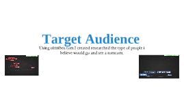 Target audience for secondary research