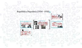 República Populista (1954 - 1956)