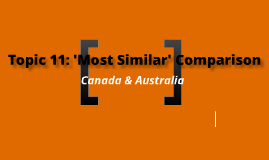 Topic 11: 'Most Similar' Comparison: Canada & Australia