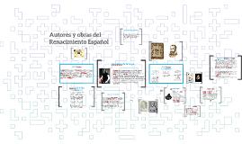Copy of Autores y obras del Renacimiento Español