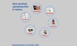 Slim (online) samenwerken in teams